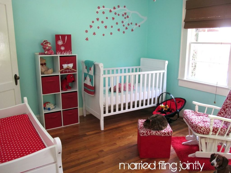 My Red And Aqua Nursery Red Aqua Nursery Baby Nevin