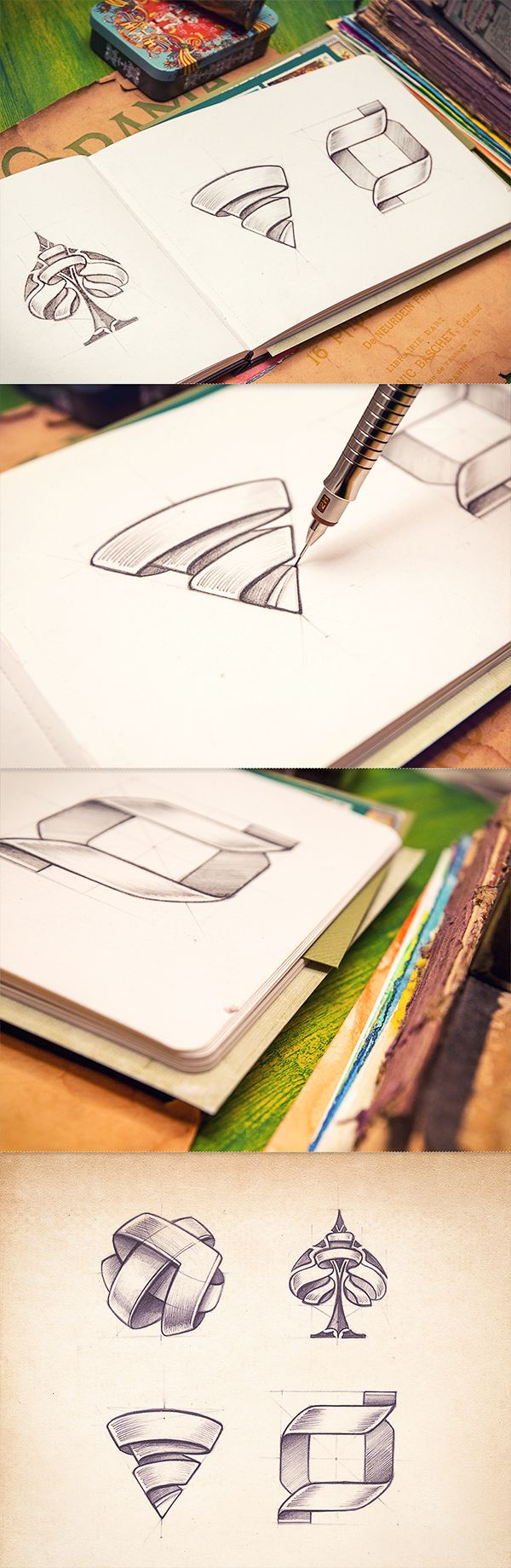 Sketchbook de Mike, a través de Behance