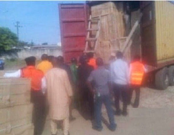 Oyo Police Impound Truck Conveying Ballot Boxes