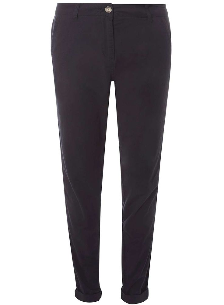 Womens **Tall Navy Chino Trousers- Blue