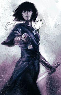 Sabriel - rejected cover illustration number two