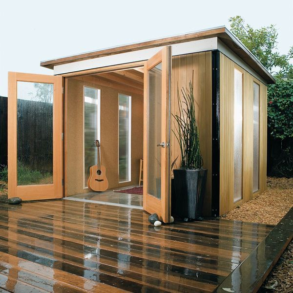 Men crave a man cave but she'd prefer a sunny little shed. DML http://www.mancavegenius.org/