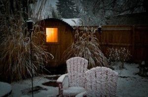 Sauna in the snow