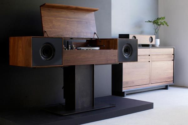 Modern Record Console by Symbol Audio: Home Theater, Record Players, Records Consoles, Modern Records, Audio Modern, Records Players, Products Design, Furniture, Symbols Audio