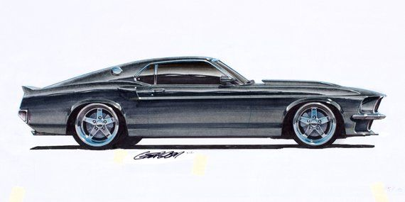 1969 Ford Mustang Boss 427 Project Car 12x24 Inch Art Print By Etsy In 2020 Ford Mustang Boss Mustang Boss Foose