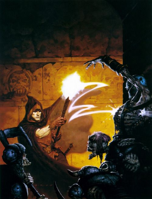 Brom's cover artwork for Heretic (Raven Software, 1994).
