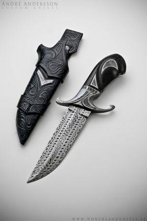 Андре Андерссон Пользовательские Дамаск Ножи - Ножи, кинжалы, мечи и Artknives из Швеции
