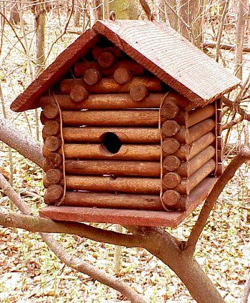 Antique Lincoln Log birdhouse.