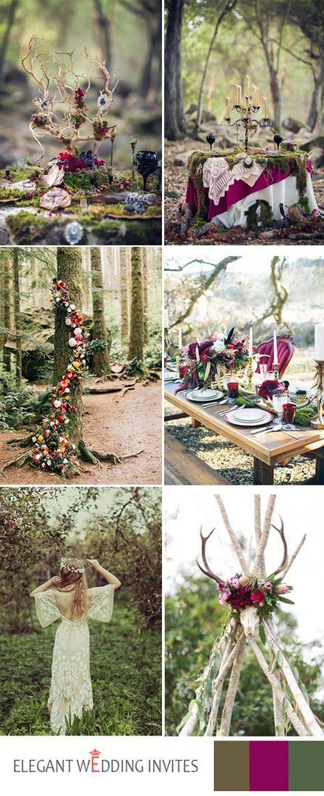 amazing forest boho wedding themes  ideas