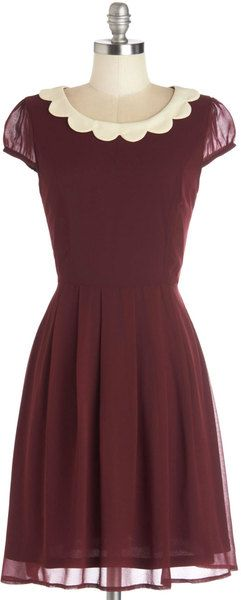 Modcloth Red Surprise Me Dress in Burgundy