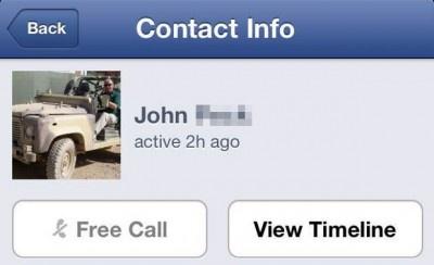 Facebook Messenger: Free VoIP Calls between USA iPhone users