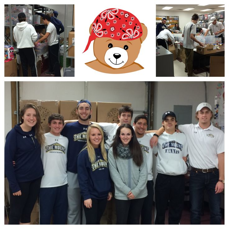 Mount St. Mary's College Men's and Women's Tennis teams helped pack part of the 1st quarter toys to be sent to 45 hospitals across the U.S. Thank you for all of your help! @mountstmarysu #CCRF #BearAbleGifts #Volunteers #ChildhoodCancer #PediatricCancer