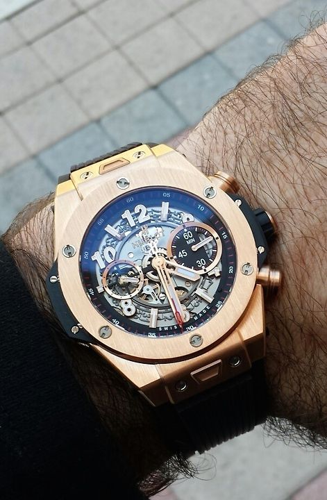 Gold @hublot Chronograph #WATCH #BUYLATER