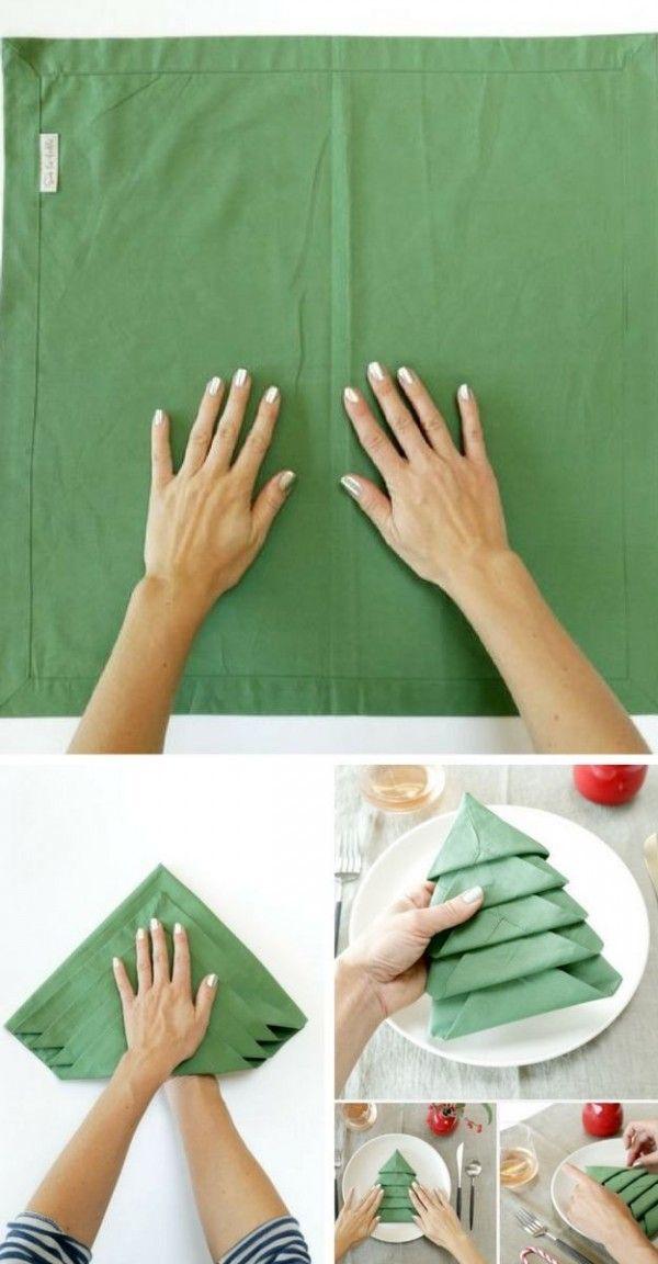 Les 25 meilleures id es de la cat gorie pliage de serviette noel sur pinterest - Repas noel original ...