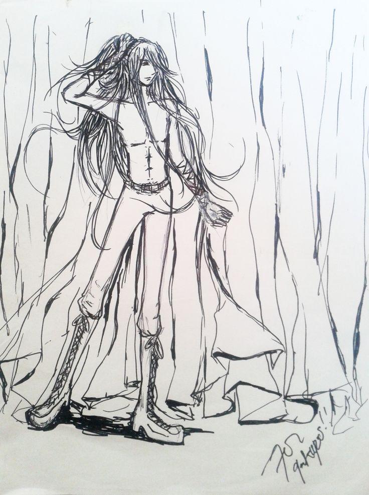 fanart of gakupo sexy topless sketch by 7oi
