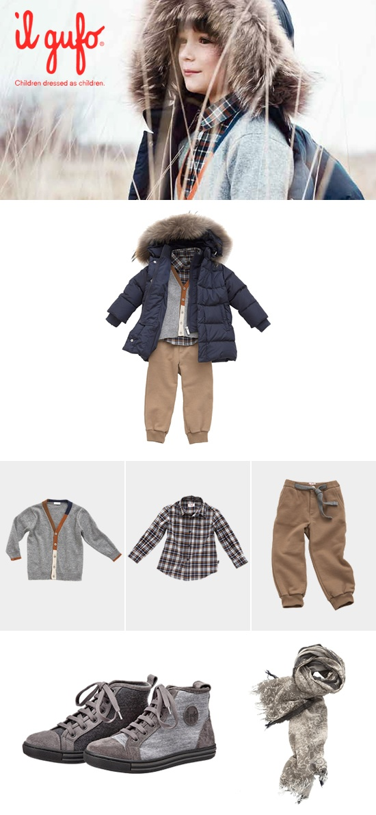 Il Gufo AW 2012-13 #Fashion #children #kids #kidswear #girls #boys #outfit   Create your outfit #ilgufoutfit and become a pinner for this board!  Shop online: http://shop.ilgufo.it/en/fw-collection/boy-2-14-years/looks.html