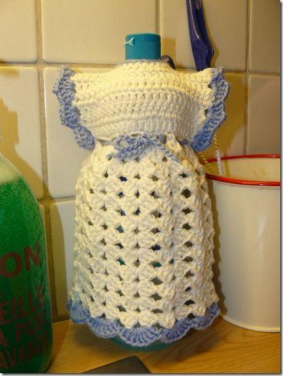 17 Best images about Crochet Dish Soap Bottle Aprons ...