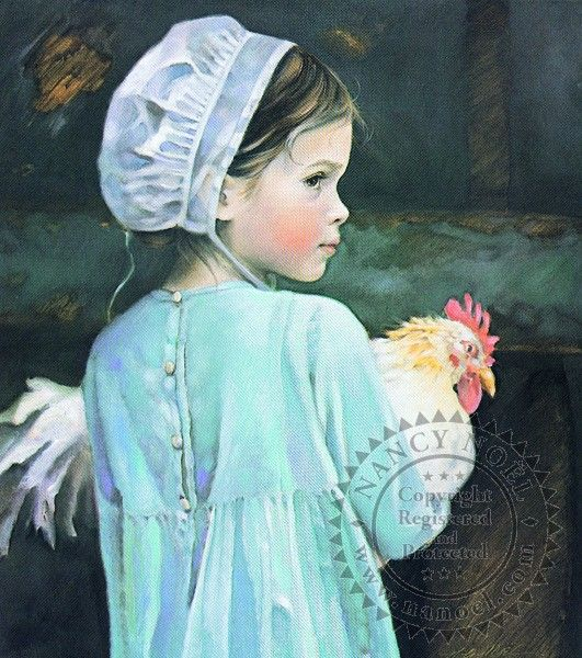 Artists, Little Girls, Nancy Noel, Amish Art, Amish Life, Country Girls, Amish Country, Art Painting, Emma