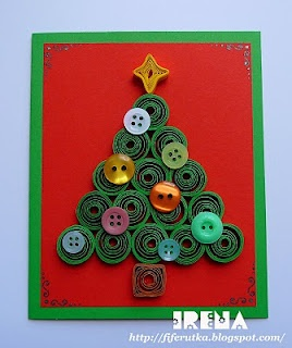christmas card (quilling)