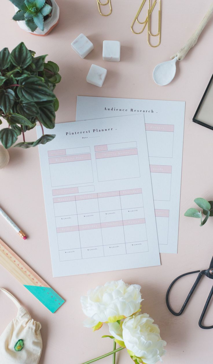 Get these Free Printable Social Media Pinterest Planners and start strategising your pins for maximum exposure. Pin like a boss!