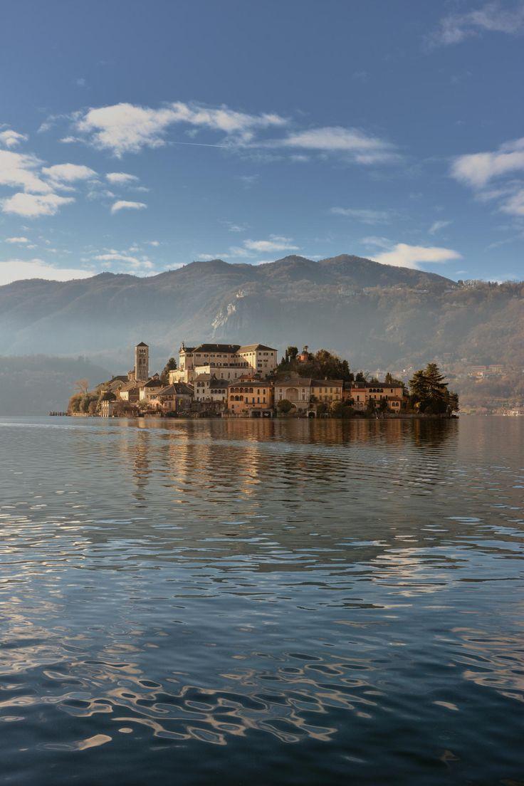 San Giulio Island (Novara), Lake Orta, Piemonte, Italy