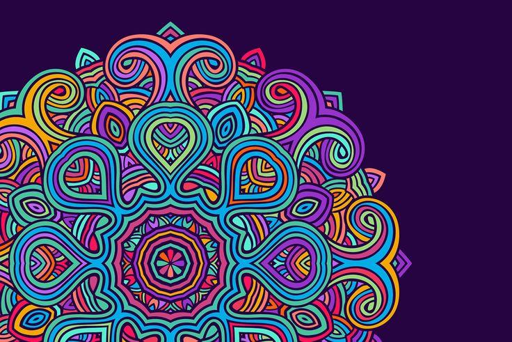 Coloriage Mandala: une sélection de coloriages de Mandala pour les enfants, crée par Hugo l'escargot
