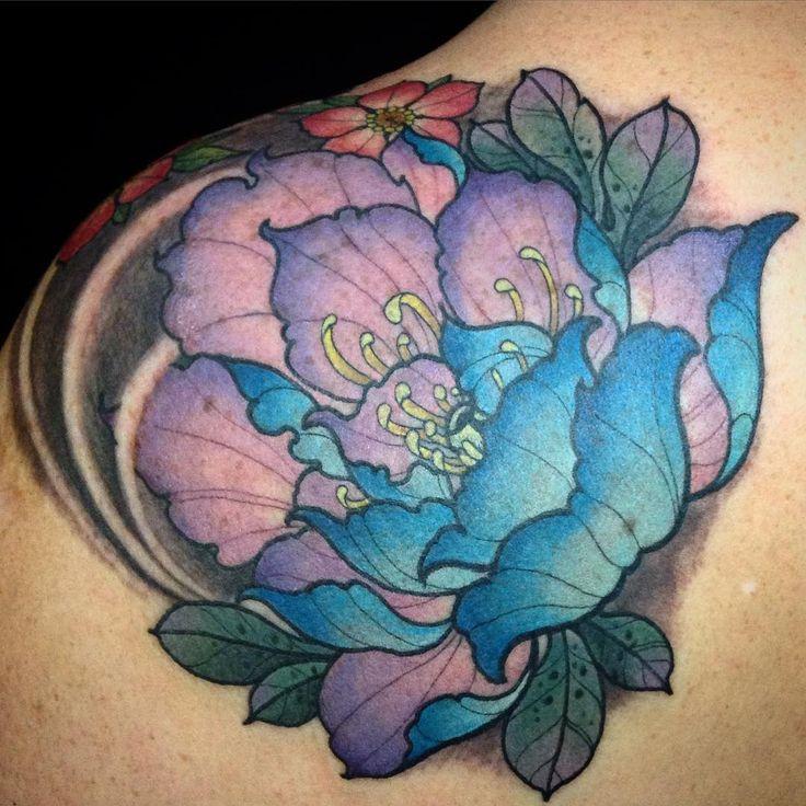 #tattoo #flower #peony #girltattoo #love #myjob #irezumicollective #asian_inkandart #japanesetattoo #japanesecollective