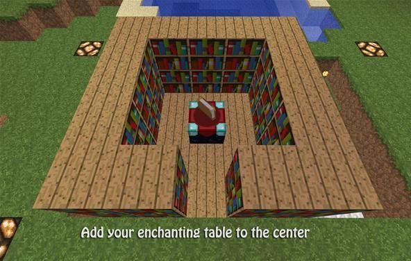Minecraft Enchanting Table Bookshelves