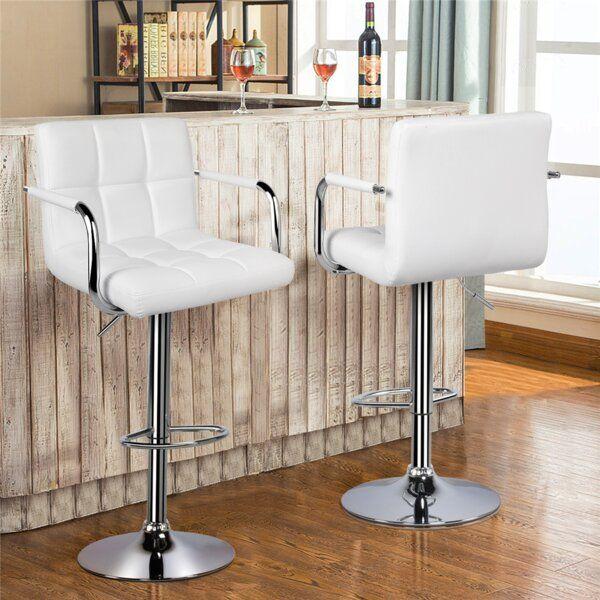 Hardiman Adjustable Height Swivel Bar Stool In 2020 Adjustable Bar Stools Swivel Bar Stools Bar Stools
