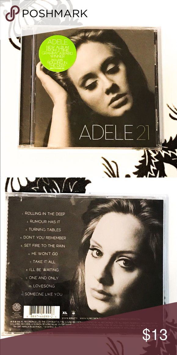🍀 NWT! Adele 21 Cd! This CD is the Adele 21 CD it's brand-new completely unopened!  it has so many great songs by Adele! A great CD to have. Other