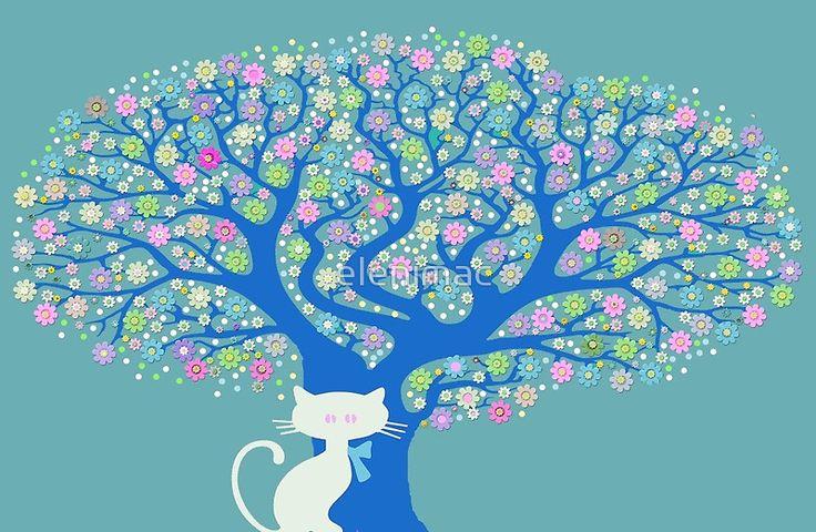 Cat  Flower Power