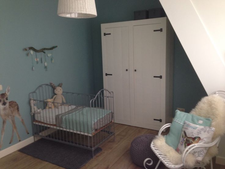 Babykamer #meisjeskamer #nursery #mint #paintingthepast #koeka ...