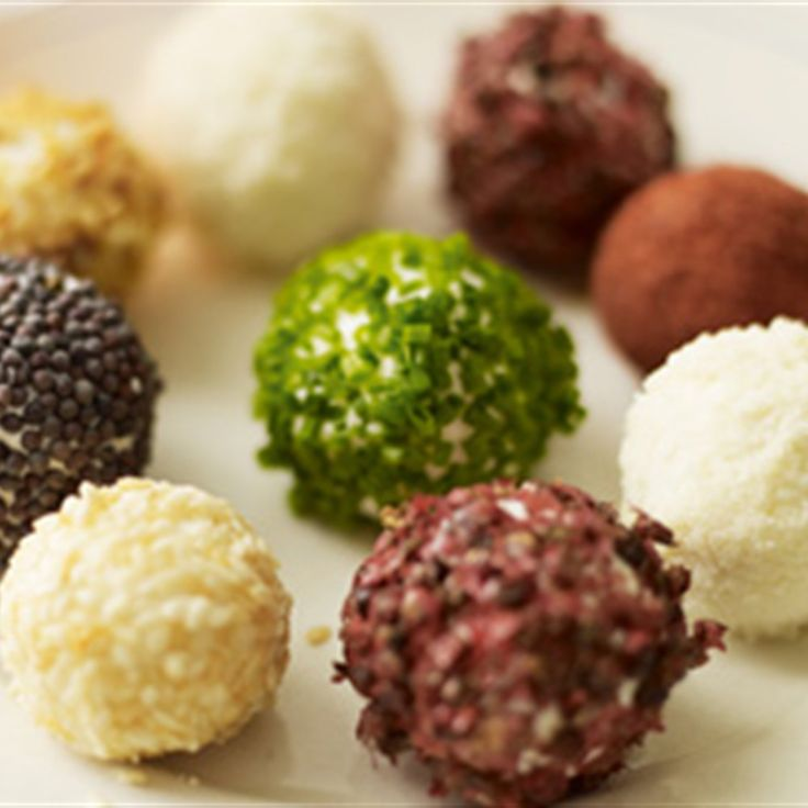 Try this Goats cheese truffles recipe by Chef Lorraine Pascale. This recipe is from the show Home Cooking Made Easy.