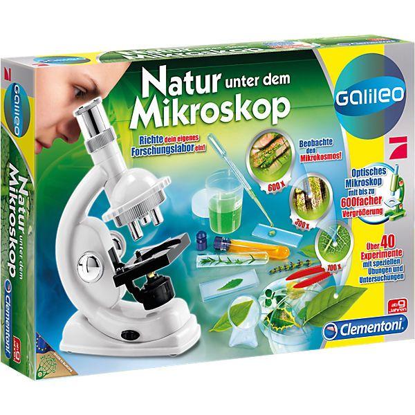 Galileo - Natur unter dem Mikroskop<br /> <br /> Ein phantastisches, mikrobiologisches Labor, reich an Instrumenten und Ausrüstungen, um den uns umgebenden Mikrokosmos zu erforschen. Wenn du nach dem Buch mit den Abbildungen vorgehst, kannst du viele Experimente durchführen und die Zusammensetzung der Zellen und Gewebe entdecken, die die Basis einer jeden lebenden Struktur sind. Mit Hilfe des Präzisionsmikroskops wird es dir gelingen, auch die noch so kleinen Dinge zu erforschen. Du wirst so…