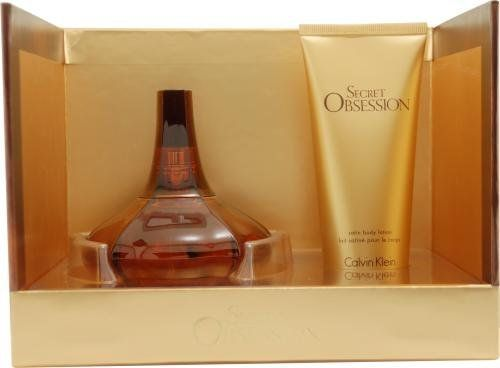 Secret Obsession by Calvin Klein for Women, Set (Eau De Parfum Spray 3.4 Ounce, Body Lotion 3.4 Ounce) by Calvin Klein. $54.99. Packaging for this product may vary from that shown in the image above. This item is not for sale in Catalina Island. SECRET OBSESSION by Calvin Klein for WOMEN EAU DE PARFUM SPRAY 3.4 OZ & BODY LOTION 3.4 OZ Launched by the design house of Calvin Klein in 2008, SECRET OBSESSION by Calvin Klein possesses a blend of mace, vanilla, sandalwood...
