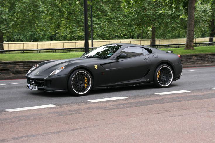 mat black ferrari 599 gtb fiorano hamann dream garage pinterest matte black ferrari and photos - Matte Black Ferrari 599