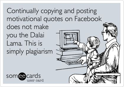 I just got through teaching about plagiarism!