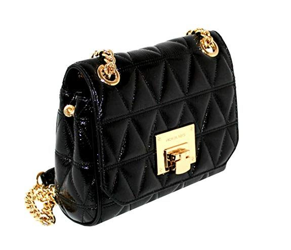 a10131fe0c1e76 MICHAEL Michael Kors VIVIANNE Small Women's Shoulder Flap Leather Handbag  (Black): Handbags: Amazon.com