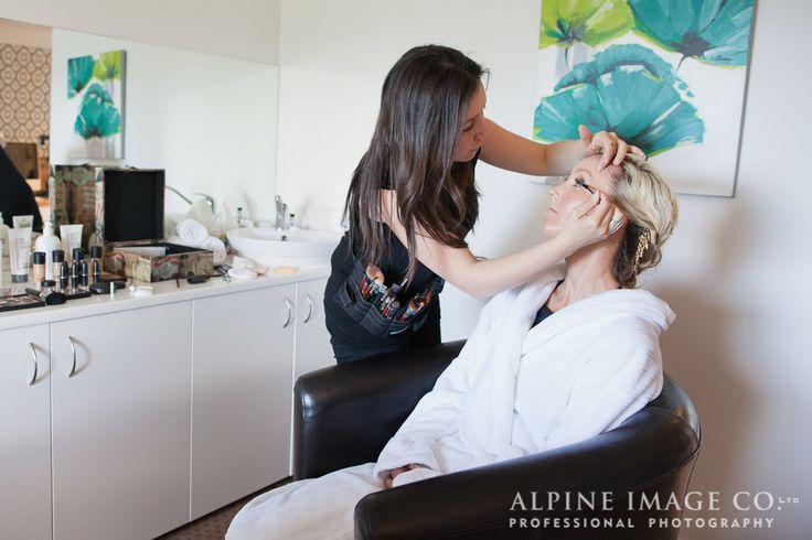 Attention to detail as your professional make-up is applied at Element Edgewater Day Spa in Wanaka, New Zealand.