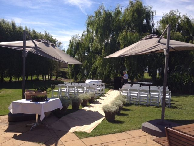 Beautiful ceremony in front of the willows Weddings at Stillwater at Crittenden - Mornington Peninsula www.stillwateratcrittenden.com.au