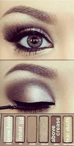 wedding eyes, urban decay naked palette. Smudgier eyeliner and bronzier shades, but like the way this is done overall