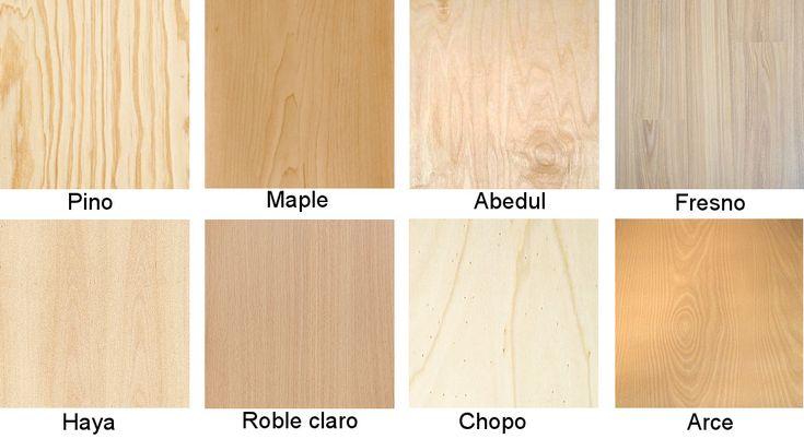 Tipos de maderas claras