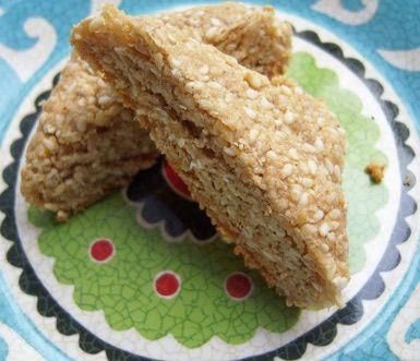 Gluten-Free Sesame Honey Halva Bites: Gluten-Free Sesame Honey Halva Bites (will sub AGAVE for the honey)