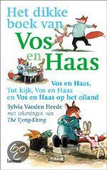 Het dikke boek van vos en haas. Leuk boek voor kinderen in groep 3. Naar mate het verhaal verder gaat, worden ook de zinnen en woorden moeilijker.