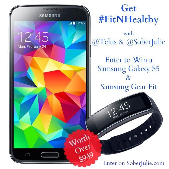 WIN a Samsung Galaxy S5 & Gear Fit from @TELUS #FitNHealthy