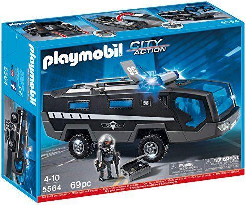 Playmobil -5564 – Jeu De Construction – Véhicule D'intervention Police: Tweet Avec les caméras et la salle de surveillance du véhicule…
