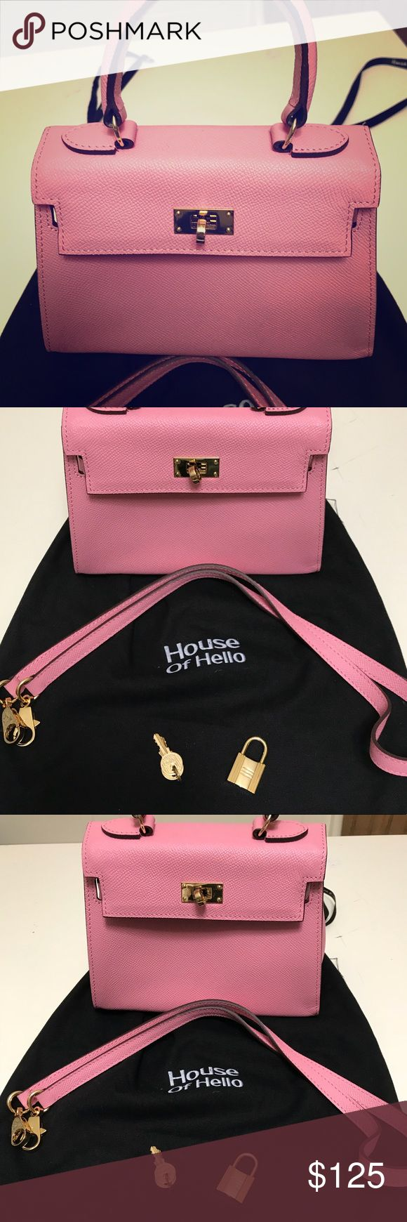 House of Hello -Kelly Bag House of Hello Kelly Bag - I'm not a Hermes - authentic and new. Comes with dust bag, strap , and lock & key House of Hello Bags