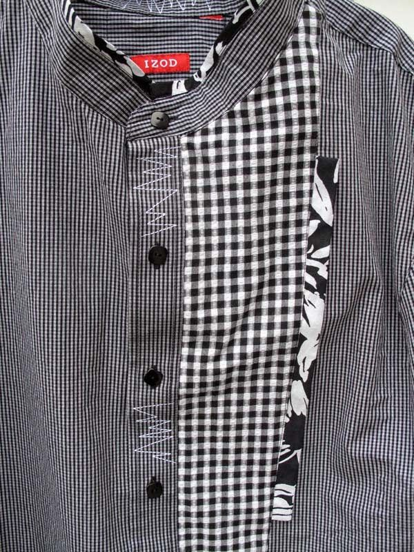 Refashioned Men's Shirt - Just the addition of a little extra fabric changes the whole vibe.