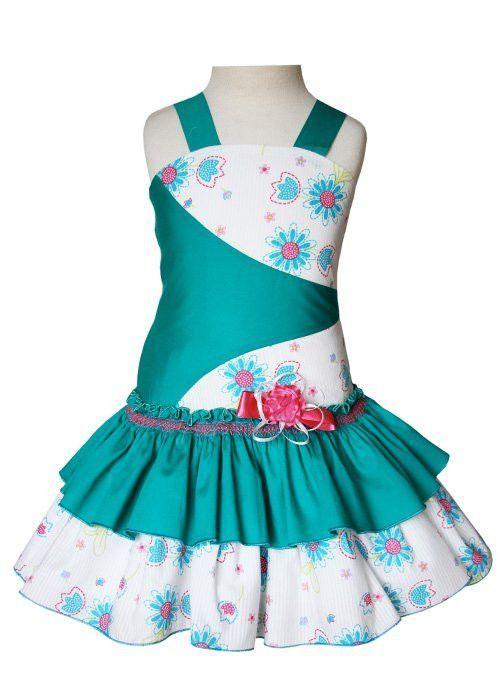 Gorgeous green ruffle summer girls dress Mia – Carousel Wear