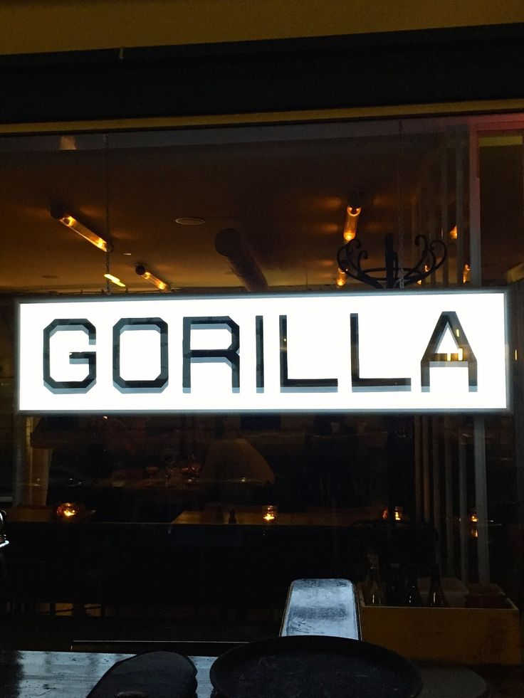Dinner at the Gorilla - yummy meal in the meat packing district